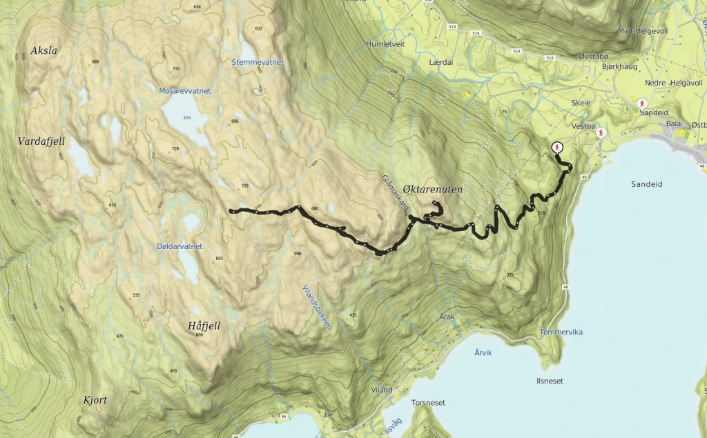 oktarenuten - mapa
